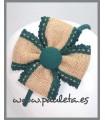 Diadema para niña de yute de color verde 560644-44