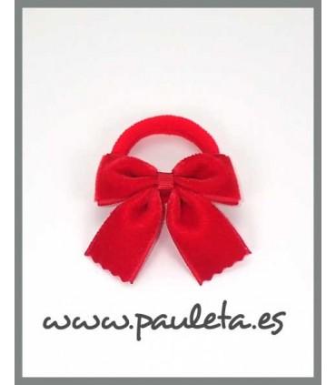 Coleteros pequeños para niñas de terciopelo rojo P1589-31