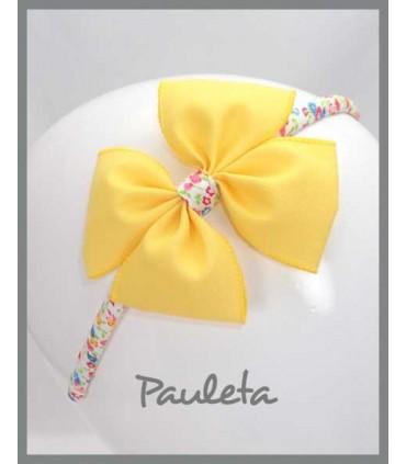 Diademas de niña amarillo limón P5614-35