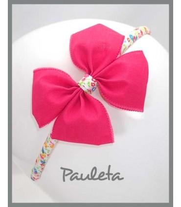 Diademas de niña rosa fresa P5614-28