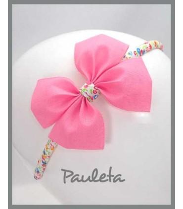 Diademas de niña rosa pétalo P5614-26