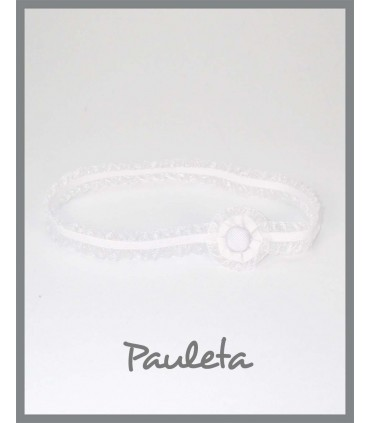 cinta pelo bebe blanca P6037-01