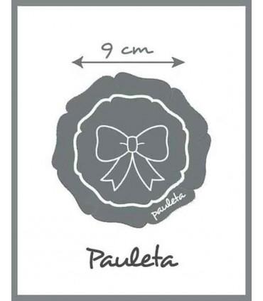 Medidas de la Diademas de bebe con adorno de cuadros de vichy rosa P4638-23