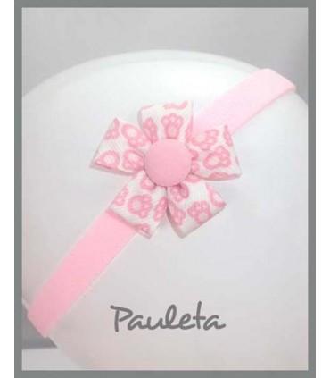 Felpa de bebe rosa huellas ES3002-23