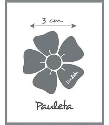 Medidas diademas de bebe celeste con aplique de flor P3102-05