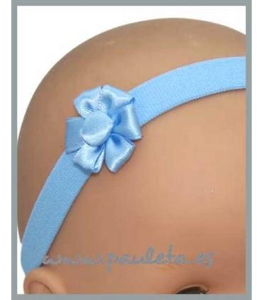 Diademas de bebe color azul celeste P3102-23