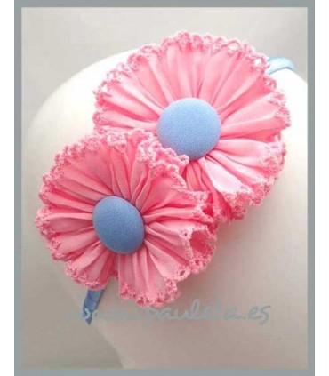Diadema niña rosa y azul celeste 5368-23-05