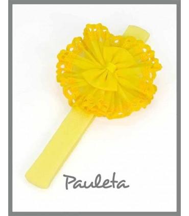 Turbante amarillo recién nacido P3116-35