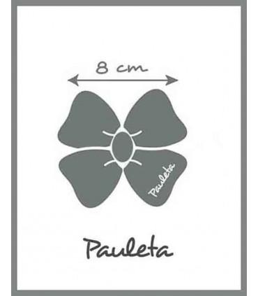 Medidas de lazos para el pelo para niña de tela estampada de flores P74632D