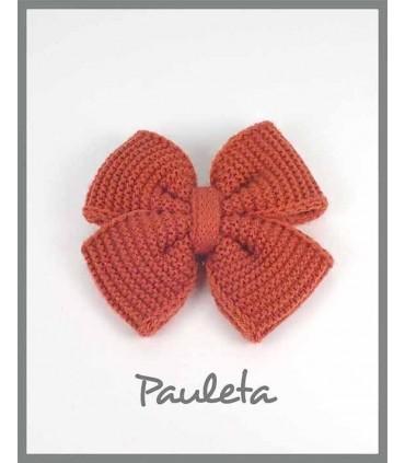 Pinza lazo de lana pelo teja color P7627-78