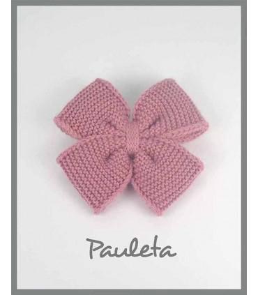 Lazo lana rosa empolvado P7627-61