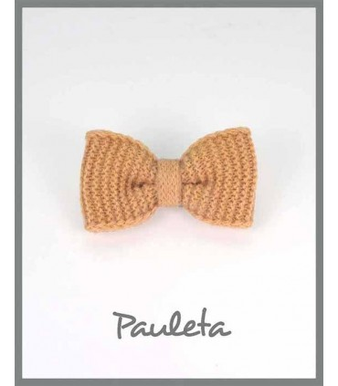 Lazo de lana sencillo color amarillo mostaza P7626-48