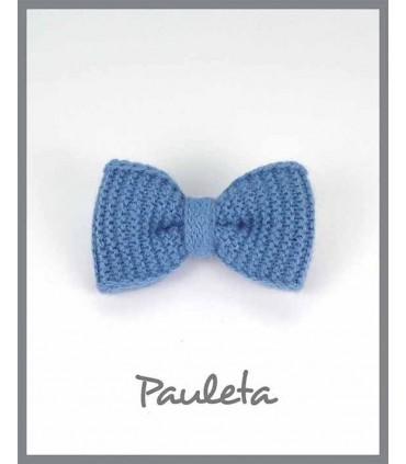 Pinza lazo lana azul para el pelo P7626-09
