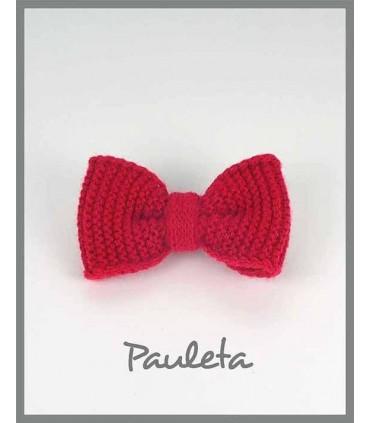 Lazo lana para el pelo de color rojo P7626-31