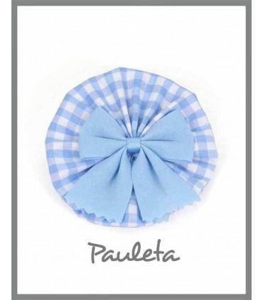 Adorno pelo cuadros de vichy  azul celeste P7638-05