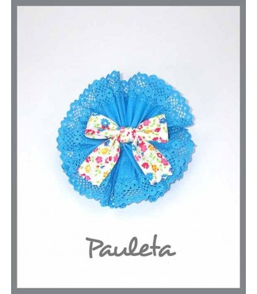 Adorno pelo niña azul turquesa P7613-65