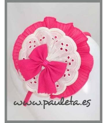 Diademas niña grandes rosa fresa P5599-28