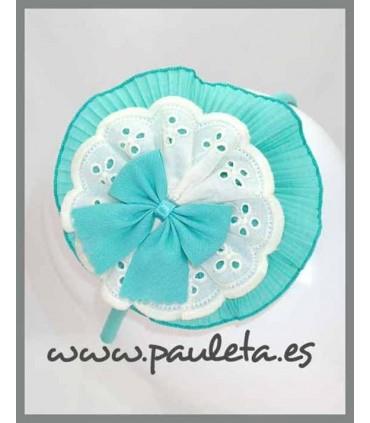 Diademas niña grandes verde agua P5599-56