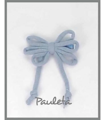 Cordones para el pelo de algodón azul empolvado P7114-09