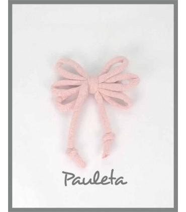 Cordones para el pelo de algodón rosa pálido P7114-24