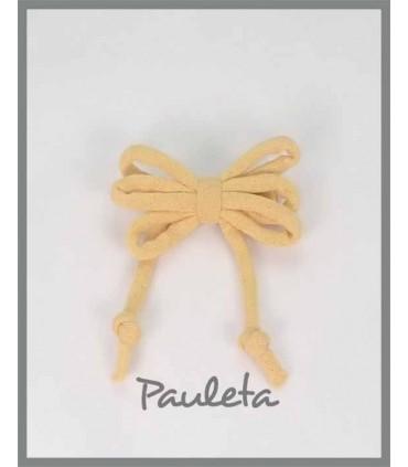 Cordones para el pelo de algodón amarillo suave P7114-34