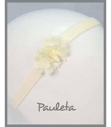 Diademas de bebe de flores beige clarito P3619-02