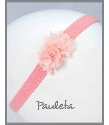 Diademas de bebe de flores rosa pálido P3619-24