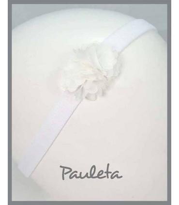 Diademas de bebe de flores blancas P3619-01