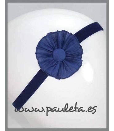 Cinta para el pelo de color azul marino para bebe P3493-12