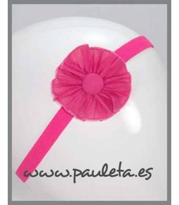 Cinta para el pelo con adorno de color rosa fresa para bebe P3493-28