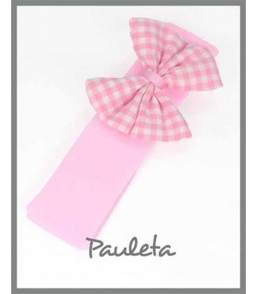 Turbante bebe cuadros vichy rosa P4635-23
