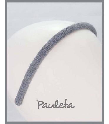 Diademas de lana lisa de color gris oscuro P5623-53