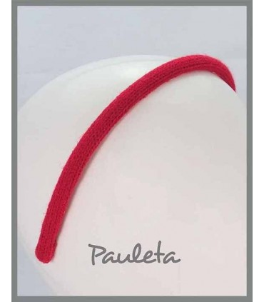 Diademas de lana lisa de color rojo P5623-31