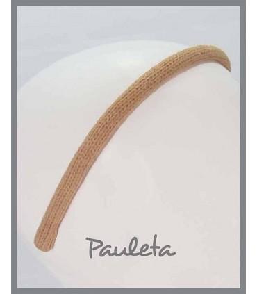 Diademas de lana lisa de color mostaza P5623-48