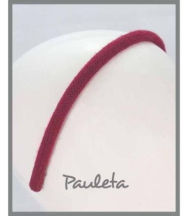 Diademas de lana lisa de color burdeos P5623-19