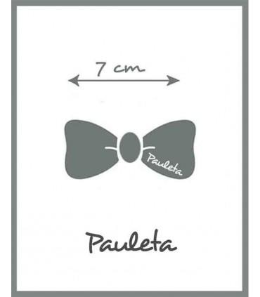 La medida es de 7 cm de la Diademas de bebe rosa empolvado con lazo trenzado de algodón P3641-61