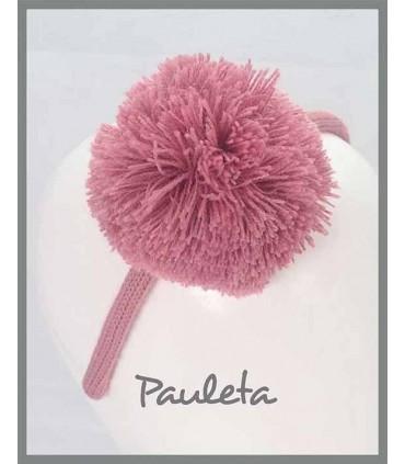 Diademas con pompóm de color rosa empolvado P5622-61