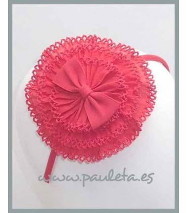 Diadema coral para niñas con tocado P5279-30