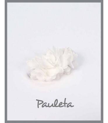 Pinzas para el pelo niña flores blancas P7619-01