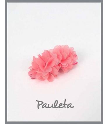 Pinzas para el pelo niña flores rosa pétalo P7619-26