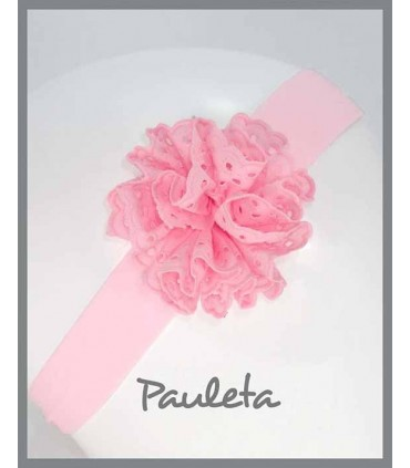 Turbante para bebe con moña de color rosa P4615-23