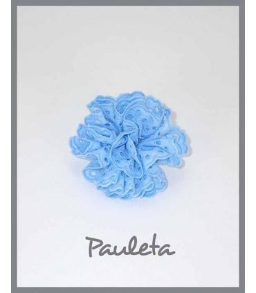 Moña para el pelo para niñas de color azul celeste con pinza P7611-05