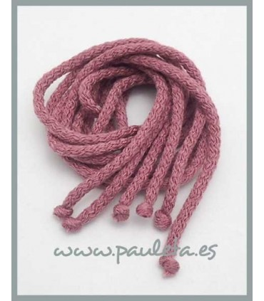 Cordones de lana color rosa empolvado 6028-61