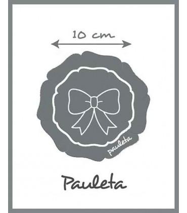 10 cm mide aprox el lazo para el pelo con encajes de color rosa pastel para niñas P7534-24