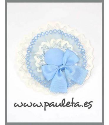 Tocado para el pelo para niñas de color azul celeste y blanco ES7011-05-01