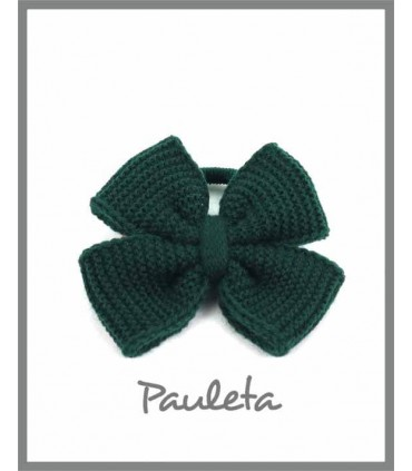 Coletero de lana verde botella P1627-44